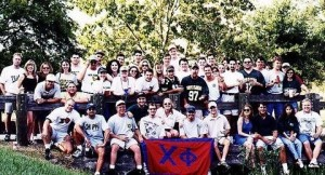 Chi Phi at Bulls First Football Game
